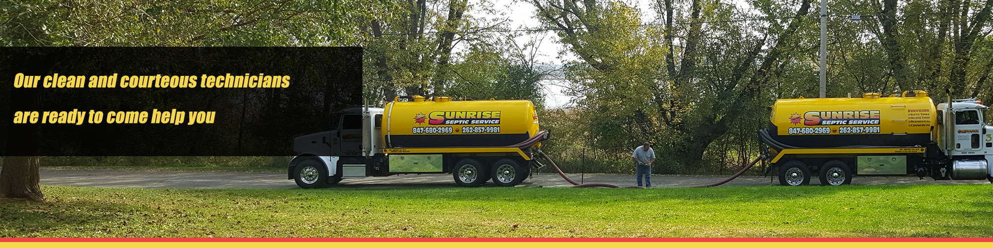 Sunrise Septic Trucks | Septic Services in Spring Grove | Pumping and Repair